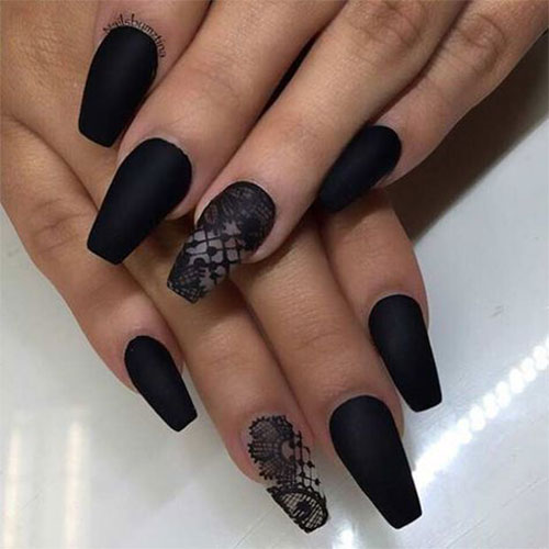 Grey Short Coffin Acrylic Nails