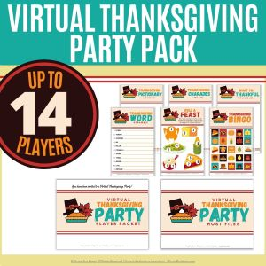 Virtual Thanksgiving Party Pack   Frugal Fun Mom