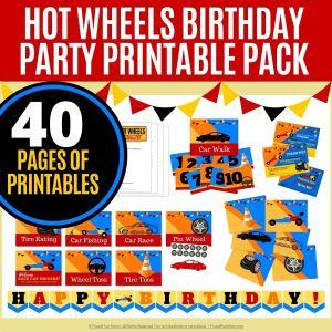 Hot Wheels Birthday Party Printable Pack   Frugal Fun Mom
