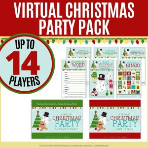 Virtual Christmas Party Pack   Frugal Fun Mom