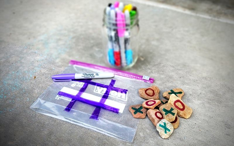 Kids Outdoor Tic Tac Toe You Can Make 3 Easy Ways   Frugal Fun Mom