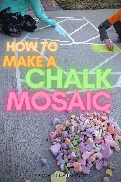 How To Make A Sidewalk Chalk Mosaic | Frugal Fun Mom