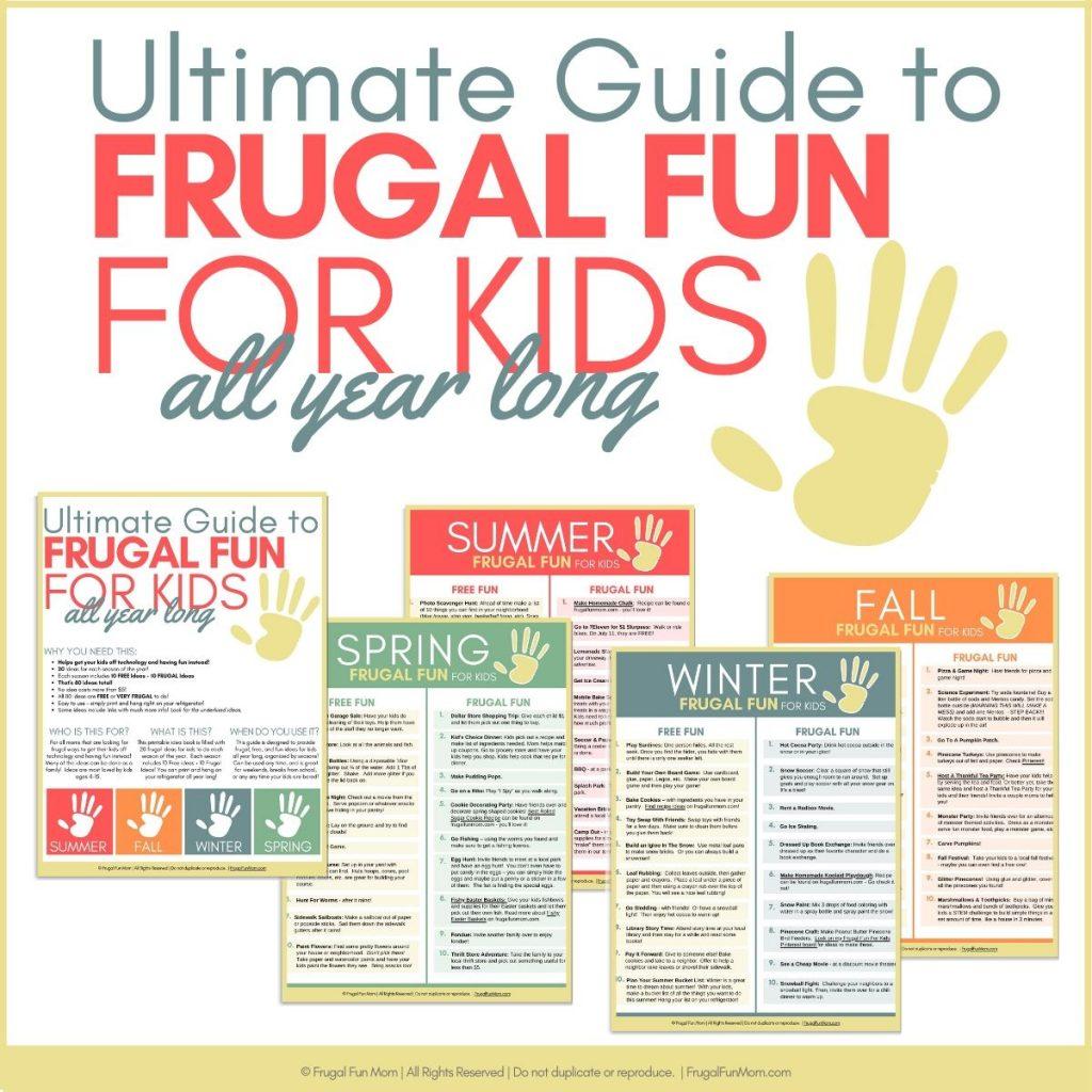 Ultimate Guide Frugal Fun For Kids | Frugal Fun Mom