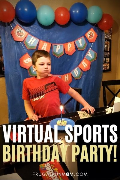 Virtual Sports Party | Frugal Fun Mom