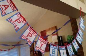 Cheerleading Birthday Party banner.