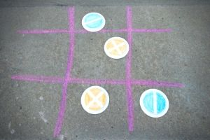 Outdoor Tic Tac Toe For Kids You Can Make 3 Ways | Frugal Fun Mom