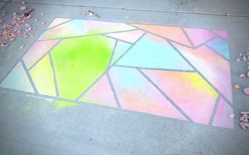 How To Make A Sidewalk Chalk Mosaic   Frugal Fun Mom