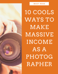 10 Ways to make Money As Photographer.  Make money using a skill you already enjoy Take advantage of the flexible schedule and work full- or part-time
