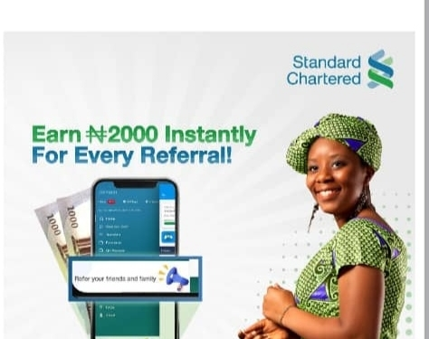 Get N2000 From Standard Chartered Referral Bonus SC Bank 2020.  The SC bank at has a referral program before but it's does not attached with a bonus or reward