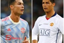 A combined XI of Man Utd's starting lineups in Cristiano Ronaldo's last two UCL games for the club