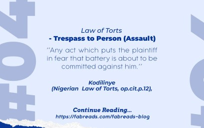 FabReads Digest with Law – 046 (Trespass to Person – Assault)