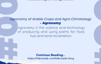 FabReads Digest with Agriculture – 001 (Agronomy)