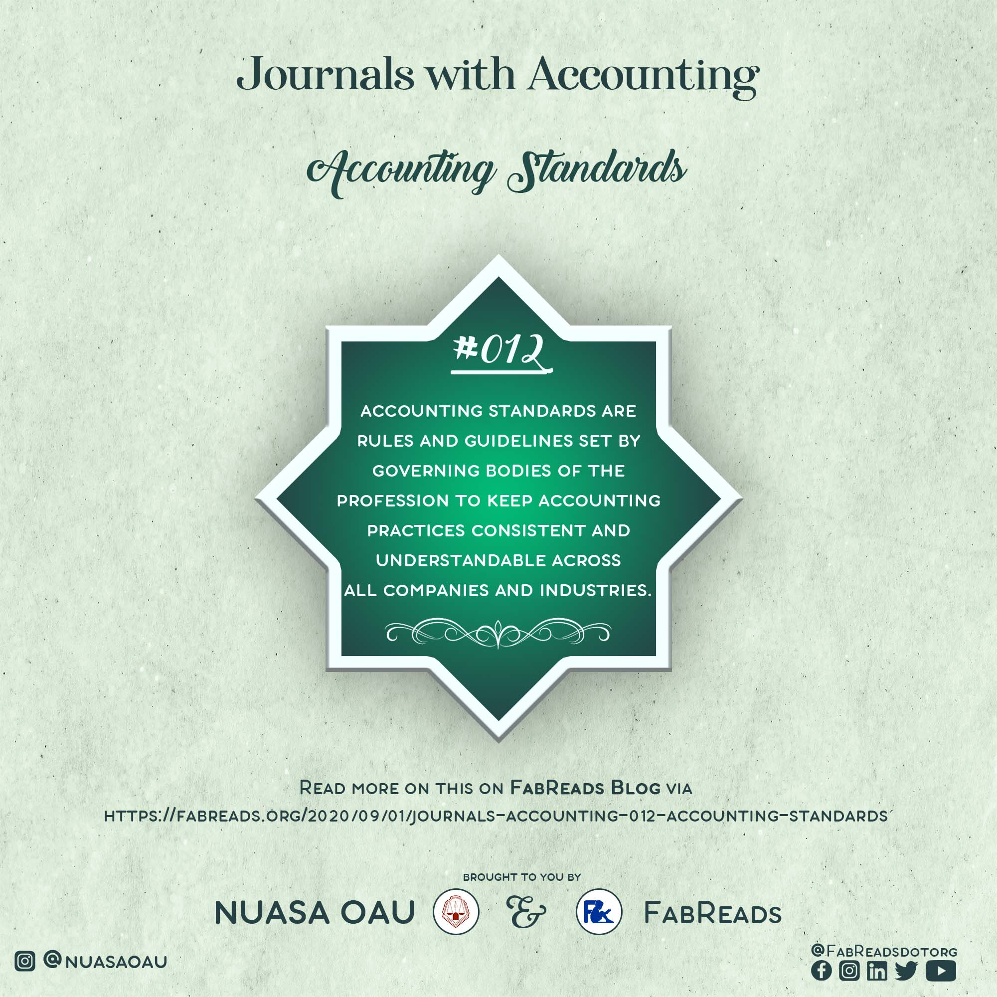 Journals with Accounting – 012 – Accounting Standards