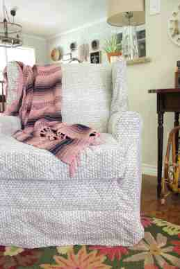 Wingback Chair Slipcover Tutorial Create Your Own Diy Slipcover To Refresh An Old Wingback Chair With This Fun And Easy Tutorial Fabric Com Blog