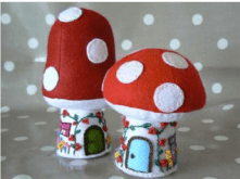 Wee cute toadstools