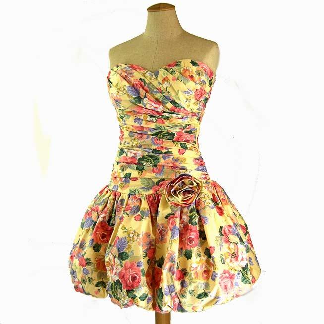 vintage floral chintz dress