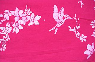 Bahamian company Androsia's Humminghbird batik fabric