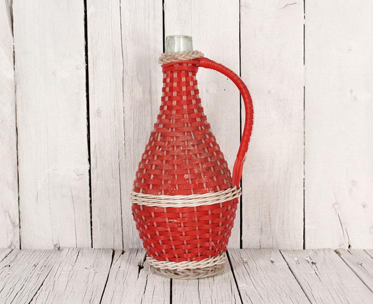 botellas trenzadas scoubidou vintage fabricadeimaginacion27