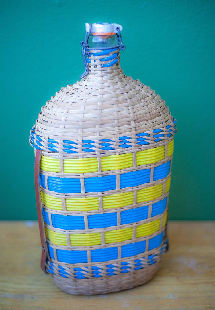 botellas trenzadas scoubidou vintage fabricadeimaginacion35