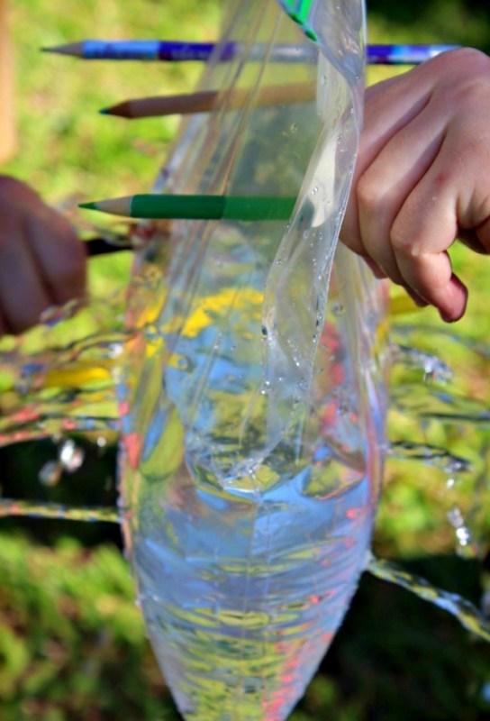 Experiment cu punga de plastic