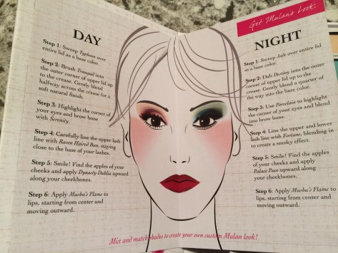 Suggested make-up combos