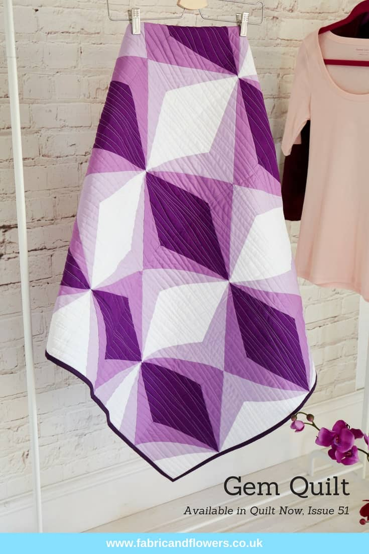 Gem Quilt in Issue 51, Quilt Now by fabricandflowers | Sonia Spence