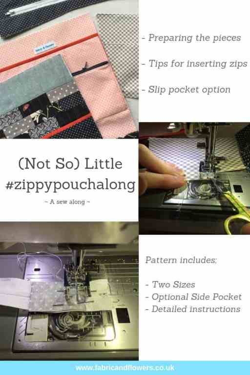 Zippy Pouch Along - preparing the pieces and zipper tips by fabricandflowers | Sonia Spence
