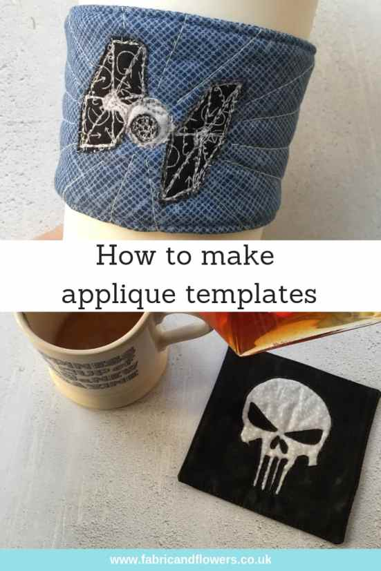 How to applique - making templates on an iPad and reverse applique coaster by fabricandflowers