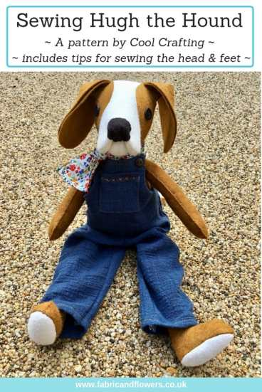 Making Hugh the Hound (pattern by CoolCrafting) and tips for sewing dungarees and handsewn scarf by fabricandflowers