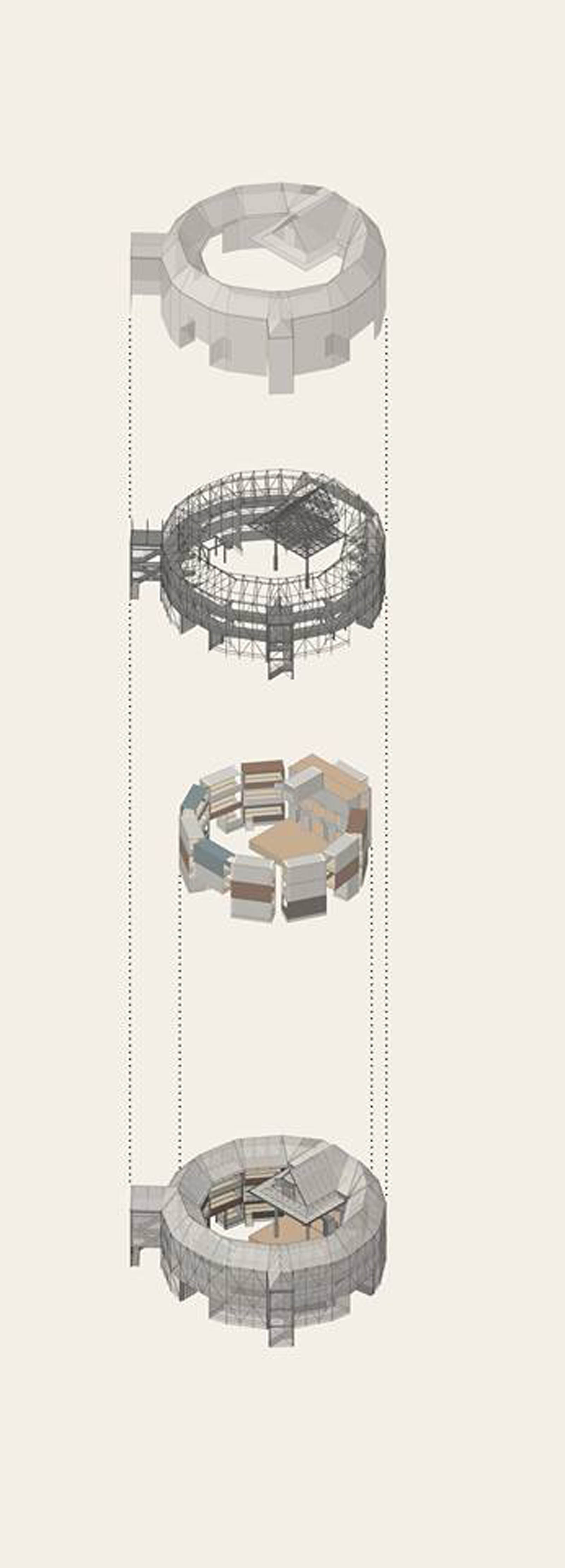 Mesh Wrapped Globe Theatre Proposed For Travel Fabric