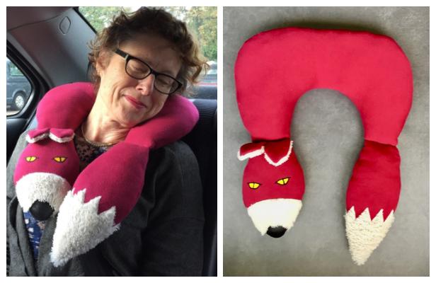 diy fox travel neck pillow free sewing