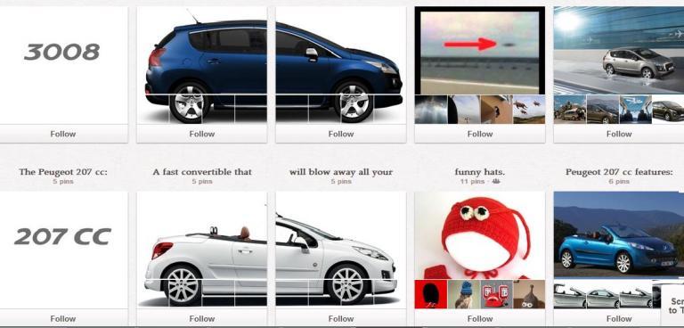 Peugeot et Kotex : les premières campagnes marketing sur Pinterest