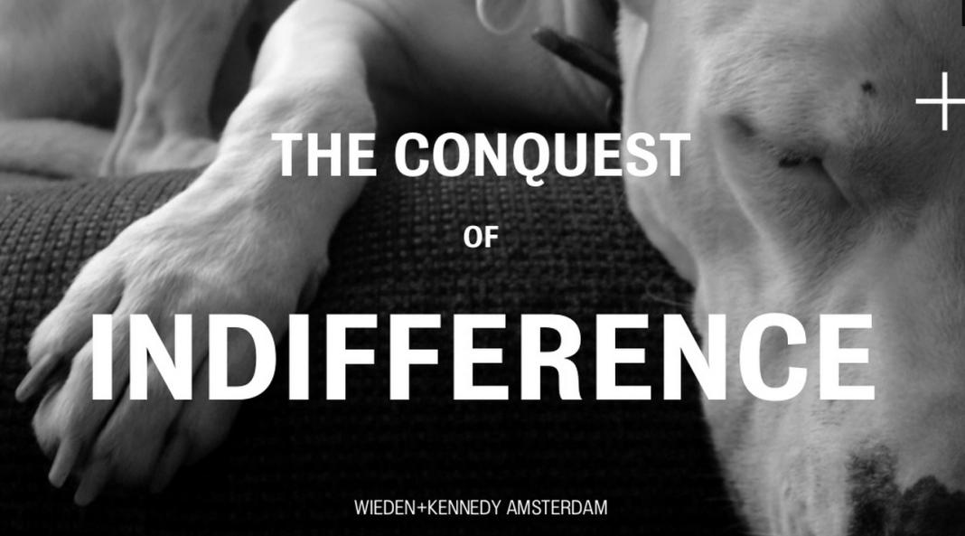 la conquête de l'indifférence