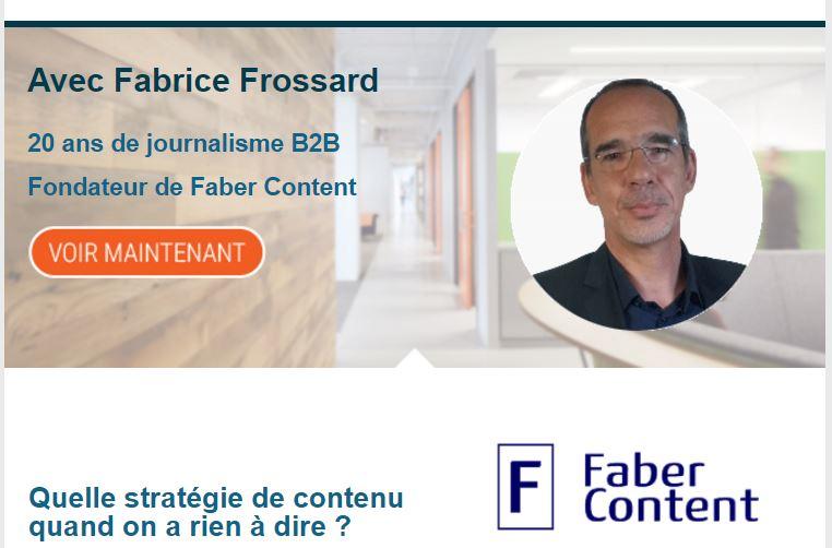 Fabrice Frossard B2B contenu