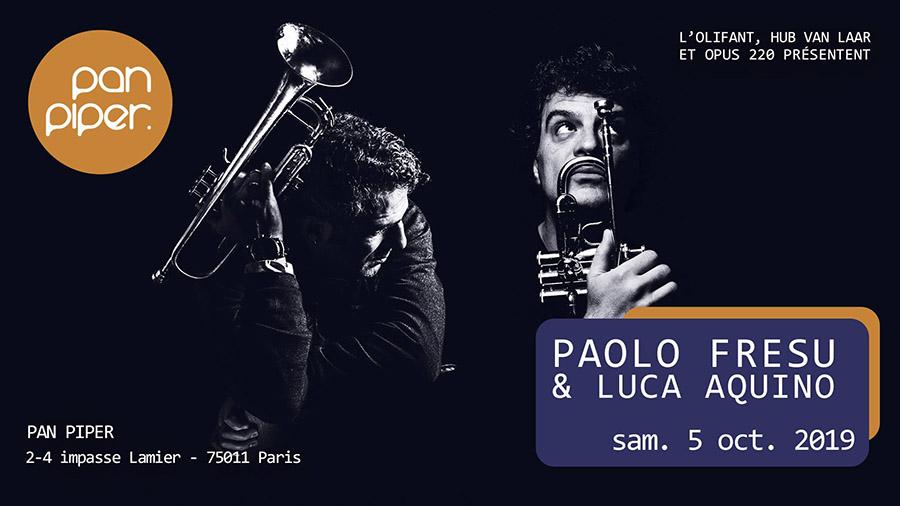 Paolo Frzsu & Luca Aquino en concert au Pan Piper