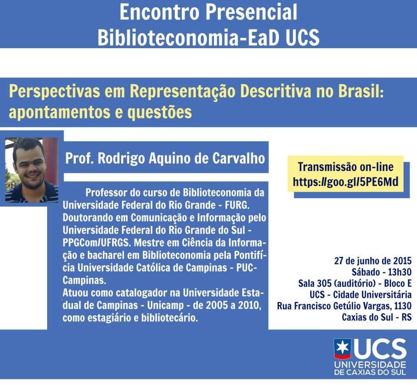 Perspectivas em Representação Descritiva no Brasil: apontamentos e questões