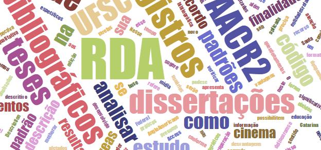 Análise do RDA para teses e dissertações em literatura e cinema