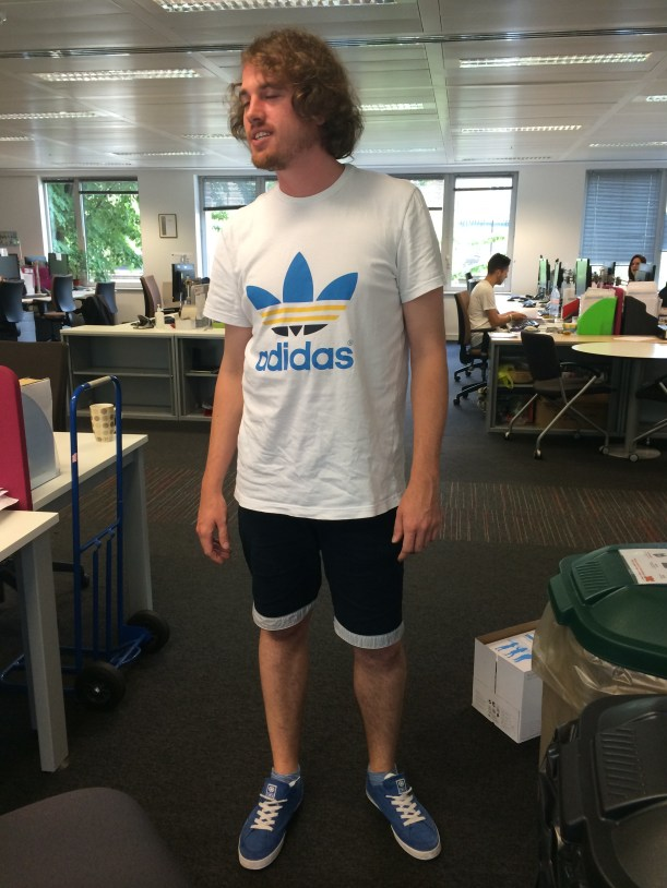 Nick Mawley (Communications) in shorts