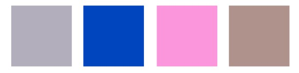 Amy's Four Key Colours