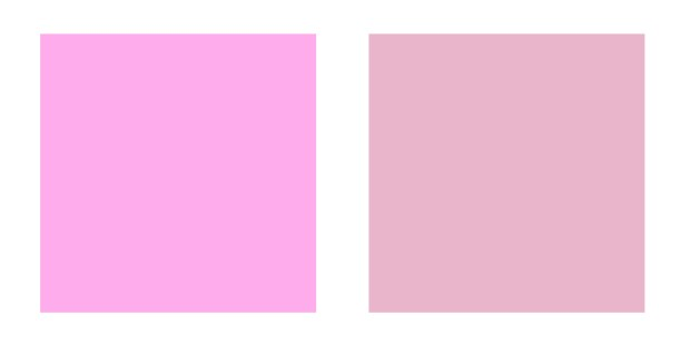 Bright pink or Muted pink