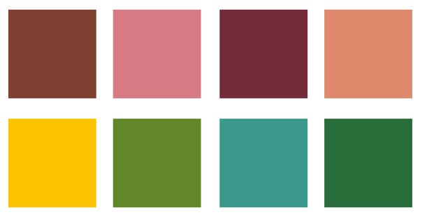 Colour palette for Amandine