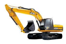 Yellow JCB digger
