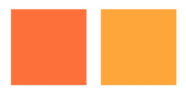 Cool and Warm orange palette
