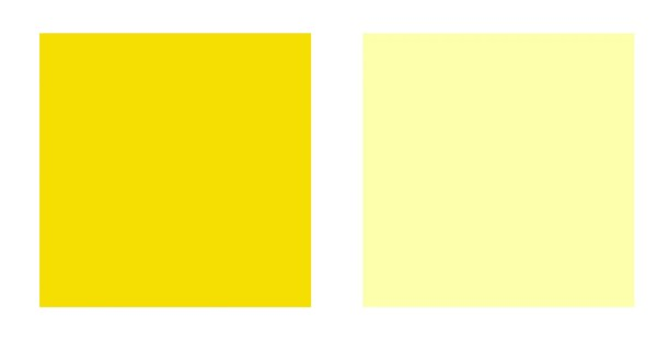 deep and light yellow swatches