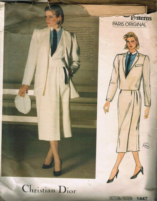Christian Dior pattern Vogue 1447