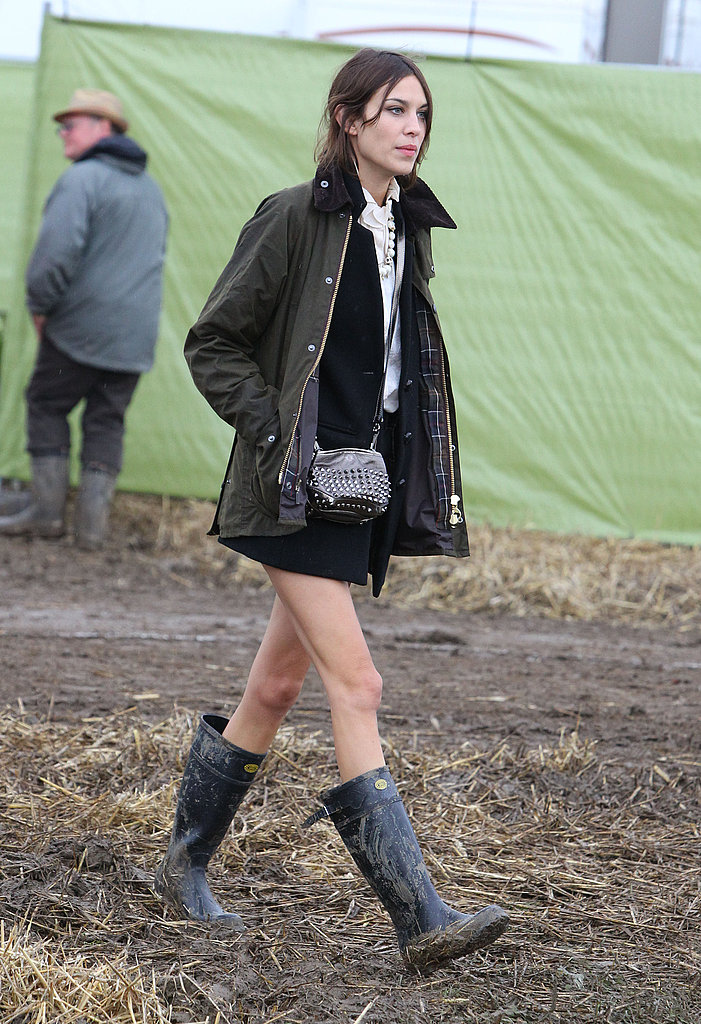 Barbour and Wellington boots