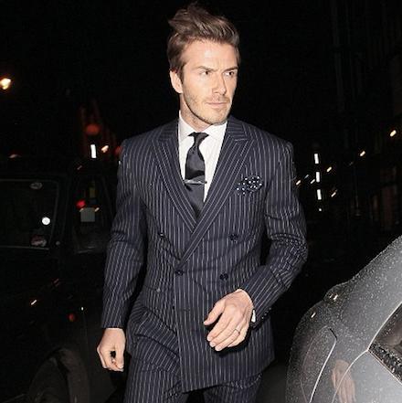 Pin-stripe suit