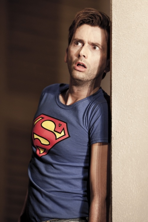 David Tennant in Superman T shirt