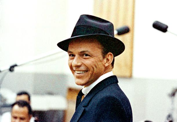 Frank Sinatra in a hat