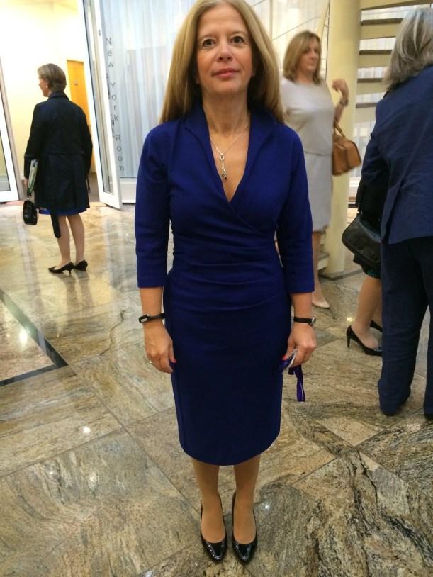 Melanie x in Blue Dress